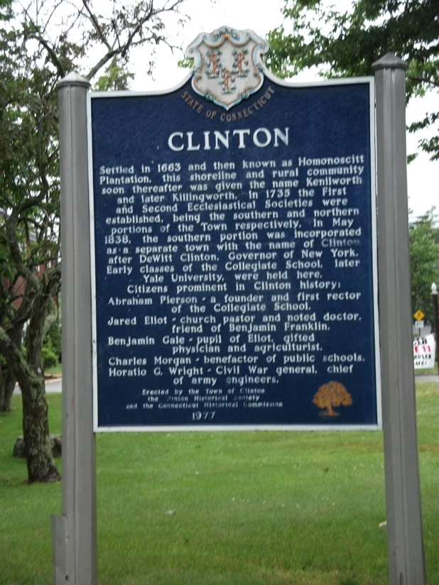 Historical Marker in Clinton, Connecticut