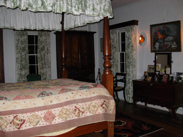 An EVP of a woman crying was recorded by the Ghosts of New England Research Society in this room in the Cox House in Bermuda