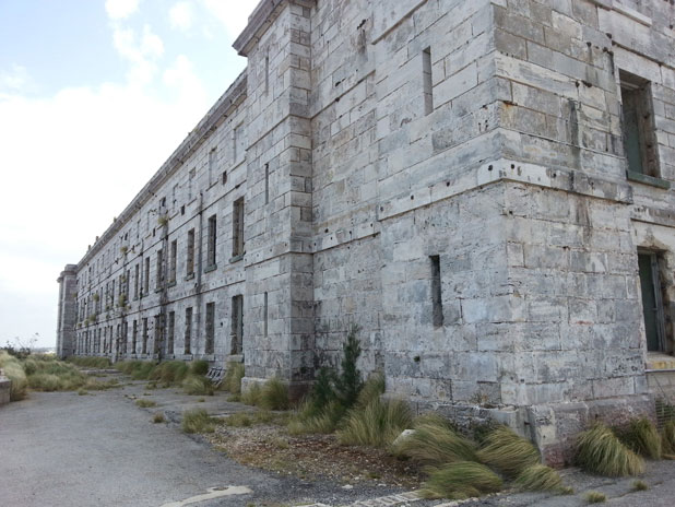 The Casemates Barracks and Prison in Bermuda