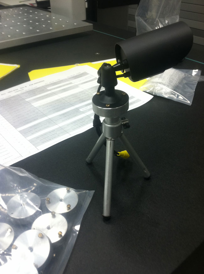 Our technicians developed this custom tripod for infra-red cameras