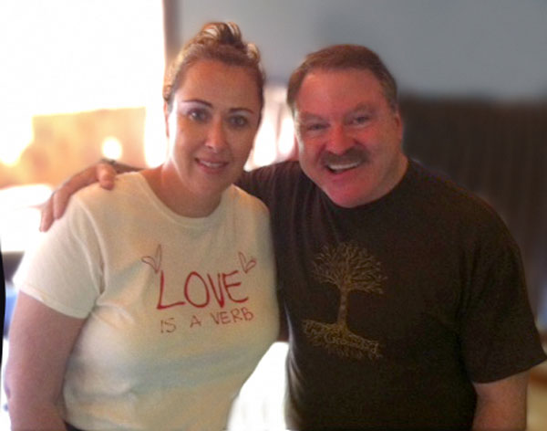 Karen Hollis with noted Medium James von Praagh