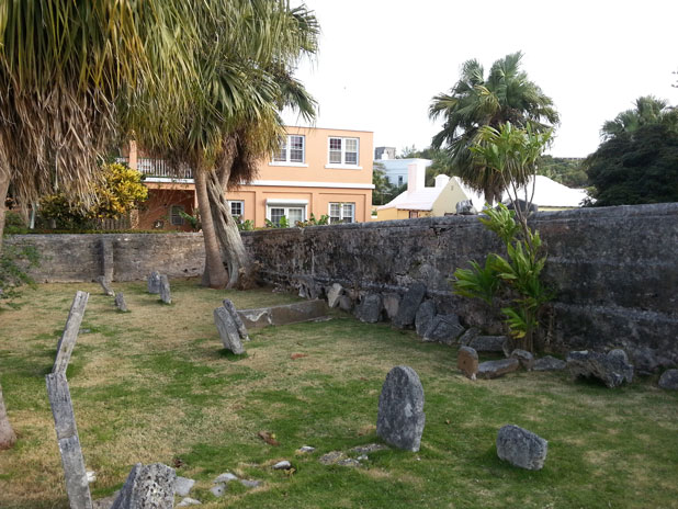 Cemetery behind St. Peters Church, St. Georges, Bermuda. This is where the upper crust was buried.